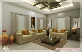 Awesome 3D Interior Renderings Kerala Home Design And Living Room Ideas With Dining Table
