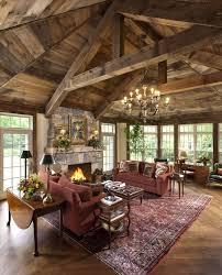 Rustic Living Room At Home Design Concept Ideas