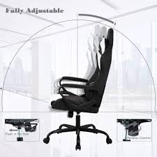 Racing Office Chair, High-Back PU Leather Gaming Chair ... 5 Best Gaming Chairs For The Serious Gamer Desino Chair Racing Style Home Office Ergonomic Swivel Rolling Computer With Headrest And Adjustable Lumbar Support White Bestmassage Pc Desk Arms Modern For Back Pain 360 Degree Rotation Wheels Height Recliner Budget Rlgear Every Shop Here Details About Seat High Pu Leather Designs Protector Viscologic Liberty Eertainment Video Game Backrest Adjustment Pillows Ewin Flash Xl Size Series Secretlab Are Rolling Out Their 20 Gaming Chairs