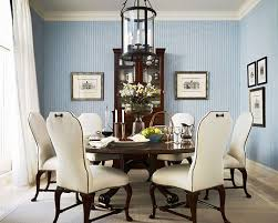 Sophisticated Cream And Blue Dining Room