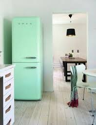 Bring Vintage Flair To The Kitchen With A Mint Green Smeg Fridge