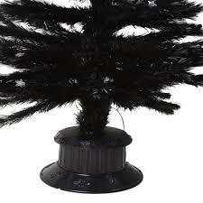 6ft Fibre Optic Christmas Tree Black by Christmas Tree Gorgeous 6ft 180cm Black Fibre Optic Christmas