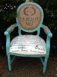 French Louis XVI Arm Chair Shabby Chic Upholstered Burlap Custom