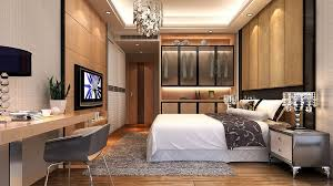 inspiration for a contemporary medium tone wood floor bedroom