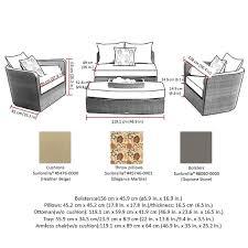 Sirio Patio Furniture Covers Canada by Sirio Venice Brown 4 Piece Modular Lounge Set