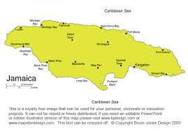 Jamaica Map Kingston Caribbean Royalty Free Jpg