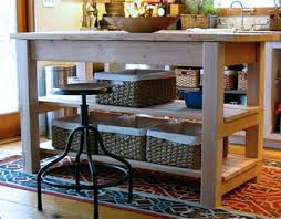 Michaelas Kitchen Island Is The Perfect Blend Of Functionality And Rustic Beauty Featuring Added Shelves Two Large Drawers A Wood Top