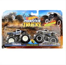 100 Hot Wheels Monster Truck Toys S 164 Demolition Doubles 2Pk Police Vs Hooligan
