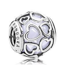Pandora Halloween Charms Ebay by Pandora Encased In Love Opalescent White Crystal Charm Pandora