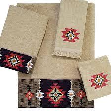 Aztec Beads Linen Bath Towel