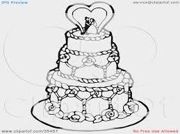 Wedding Cake clipart sketch Pencil and in color wedding cake
