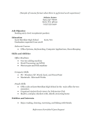 Sample Of A Resume For Highschool Student Examples Resumes Students Good