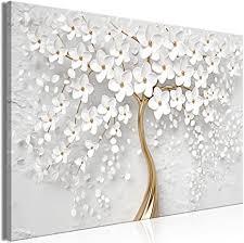 decomonkey bilder blumen abstrakt 60x40 cm 1 teilig leinwandbilder bild auf leinwand vlies wandbild kunstdruck wanddeko wand wohnzimmer wanddekoration