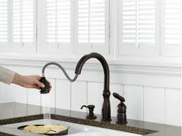 Removing Moen Kitchen Faucet Flow Restrictor by Platinum Delta Oil Rubbed Bronze Kitchen Faucet Wide Spread Two