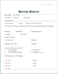Corporate Meeting Minutes Template Free Best Pdf Word Annual