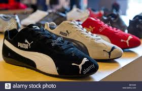 100 Hk Mark 24 Shoes Of The Sportswear Manufacturer Puma Are Displayed In A Store
