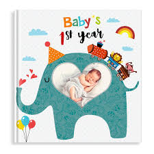 PartyKindom Bay Memory Record Book For Babys First Year Baby Shower Gifts Little Animal Lover 96 Pages
