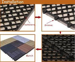 deck tiles cheap cheap price interlocking wood plastic composite