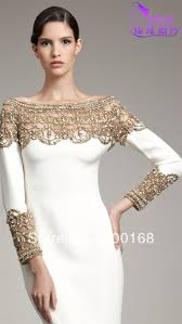 white and gold long sleeve prom dresses bella forte glass studio