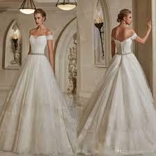 discount classic off shoulder wedding dresses bridal gown