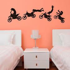 motocross trick vinyl wall decal sticker mural boy 14x46inch