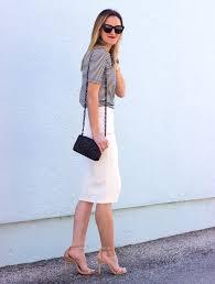 Pretty Ivory Pencil Skirt