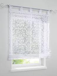 heine home raffrollo unifarben leicht transparenter stoff
