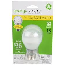 GE Lighting Energy Smart CFL 15 Watt 60 watt replacement