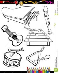 Xylophone Musical Instruments Coloring Pages For Kids Printable In Within Instrument
