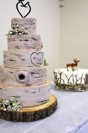 Deer Pearl Flowers Awesome Rusic Wedding Cake