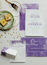 This Davids Bridal Contemporary Two Sided Invitation Precisely Spells Out Your Wedding Day Details On The Front With Initials And Date