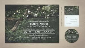 RUSTIC TREE AND STRING LIGHTS WEDDING INVITATIONS Tree Wedding Invitations