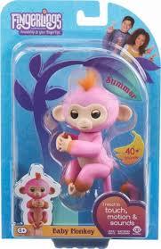 WowWee Fingerlings Baby Monkey Summer Pink 3725