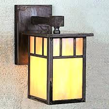 craftsman style wall sconce craftsman mission 1 light outdoor wall