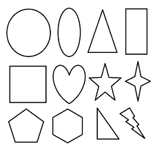 Basic 2D Geometric Shapes To Color For Kids