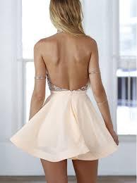 buy a line halter short pink chiffon homecoming cocktail dress