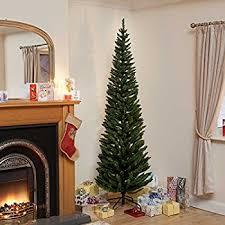 Slim Flocked Artificial Christmas Trees by 200cm Ambassador Christmas Tree Flocked Pencil Pine Slim Tree 200