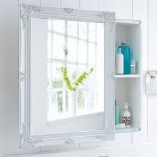 spiegelschrank schiebetür zwei innenfächer romantik look