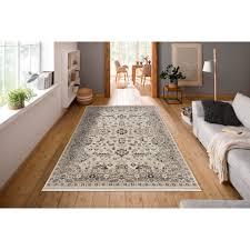 delavita teppich robin rechteckig 9 mm höhe mit bordüre wohnzimmer