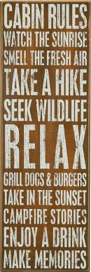 Change To Camper Rules Cabin Watch The Sunrise Smell Fresh Air Box Sign For Your Decor
