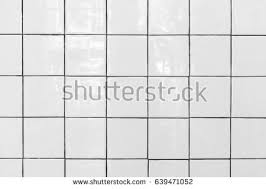 White Tiles Floor Closed Up Of Glossy Ceramic Brick Texture Tile