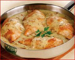 comment cuisiner blanc de poulet recette blanc de volaille de l allier à la graine de moutarde