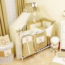 baby luxus kinderbetten 120x60 holz gitterbett babybett kinderbettset dunkelbeige komplett set inklusive
