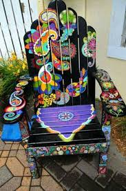 Hand Painted Chair Gypsy Home Decor