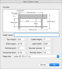 Set And Adjust The Measurements To Match Labels You Intend Print