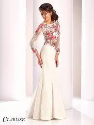 clarisse couture two piece lace dress 4811 lace prom dresses
