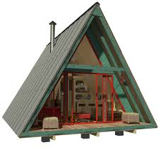 Images Cabin House Plans by A Frame Tiny House Plans