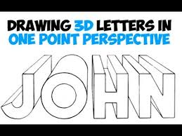 How to Draw 3D Letters Using e Point Perspective