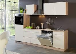 küchenzeile cardiff küche mit e geräten breite 280 cm hochglanz creme