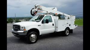 2002 FORD F550 BUCKET BOOM TRUCK 7.3 DIESEL 4x4 FOR SALE - YouTube